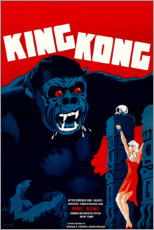 Stampa su vetro acrilico  King Kong (danese) - Entertainment Collection