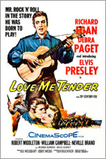 Stampa su tela  Love Me Tender (inglese) - Entertainment Collection