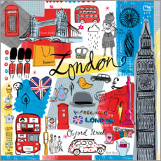 Poster Premium  Global Travel - London - Farida Zaman