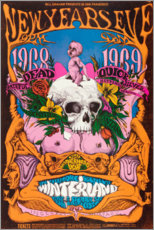 Poster Premium  New Year's Eve concert, Grateful Dead - Entertainment Collection
