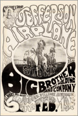 Poster Premium  Jefferson Airplane 1966 - Entertainment Collection