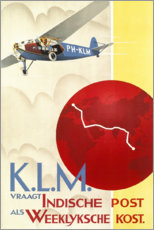 Poster Premium  KLM Royal Dutch Airlines (olandese) - Travel Collection