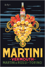 Stampa su alluminio  Manifesto pubblicitario Martini - Advertising Collection