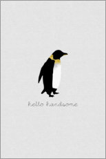 Poster Premium Hello Handsome - Set di pinguini