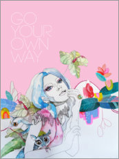 Stampa su legno  Go your own way - Sharon England