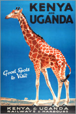 Poster Premium  Kenya e Uganda - Travel Collection