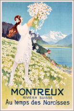 Stampa su legno  Montreux (francese) - Travel Collection