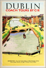 Stampa su tela  Dublino, Bus Travel (inglese) - Travel Collection