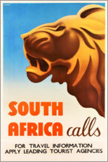 Poster Premium  Sud Africa chiama (inglese) - Travel Collection