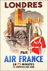 Stampa su tela  Londra con Air France (francese) - Travel Collection