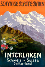 Poster Premium  Interlaken - Travel Collection