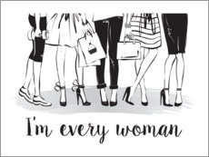Poster Premium  I'm every woman - Martina illustration