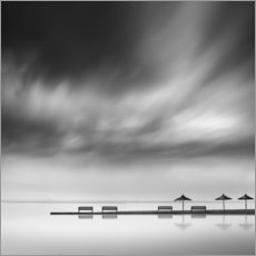 Poster Premium  Panche e ombrelloni - George Digalakis