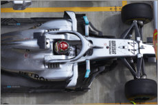 Poster Premium  Lewis Hamilton in the pits, Mercedes AMG F1, Russian GP 2019