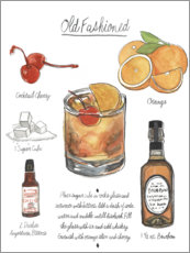 Poster Premium Cocktail Old Fashioned (inglese)