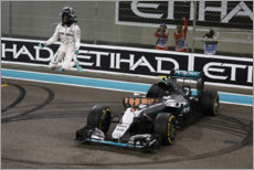Stampa su vetro acrilico  Nico Rosberg jumps after winning Abu Dhabi GP 2016
