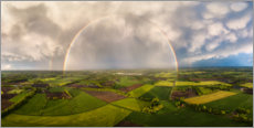 Poster Premium  Rainbow from above - Martin Podt