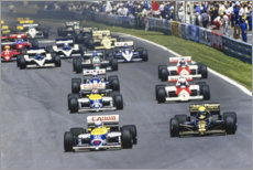 Adesivo murale  Mansell leads Senna, Piquet, Prost and Arnoux, Canadian GP 1986