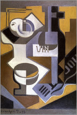Stampa su plexi-alluminio  Still Life with Wine Bottle - Juan Gris