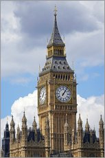 Stampa su plexi-alluminio  The Big Ben and the Palace of Westminster - David Wall