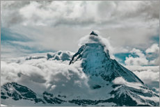 Stampa su plexi-alluminio  A lenticular cloud hovers over the summit of Mount Everest - Craig Kassover