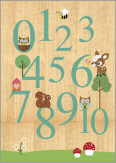 Adesivo murale  Educational Numbers - learn to count - GreenNest