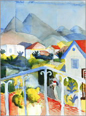 Stampa su plexi-alluminio  Saint Germain near Tunis - August Macke