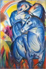 Stampa su alluminio  Tower of Blue Horses - Franz Marc