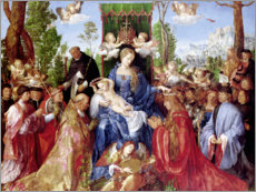 Stampa su tela  The Feast of the Rosary - Albrecht Dürer