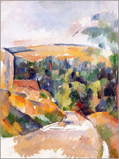 Stampa su plexi-alluminio  Bend in the road - Paul Cézanne