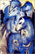 Adesivi murali  Tower Blue Horse - Franz Marc