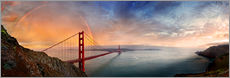 Adesivo murale  San Francisco Golden Gate with rainbow - Michael Rucker