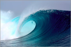 Adesivi murali  Tropical blue surfing wave - Paul Kennedy