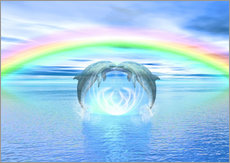 Adesivo murale  Dolphins Rainbow Healing - Dolphins DreamDesign