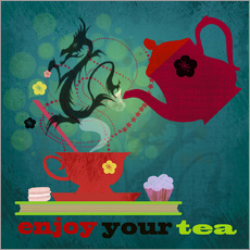 Adesivo murale Enjoy your tea