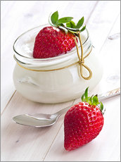 Adesivi murali  Fresh strawberries with curd - Edith Albuschat