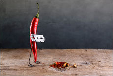 Stampa su plexi-alluminio  Simple Things - Sharp Chili Pepper - Nailia Schwarz