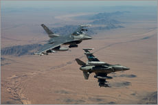 Adesivo murale  Two F16 on a training mission - HIGH-G Productions