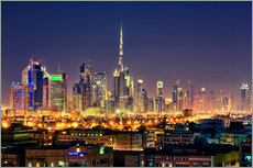 Stampa su plexi-alluminio  Dubai skyline at night - Stefan Becker