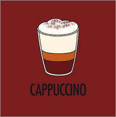 Adesivo murale Cappuccino, for the italian lover in you!