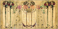 Stampa su plexi-alluminio  The Wassail - Charles Rennie Mackintosh