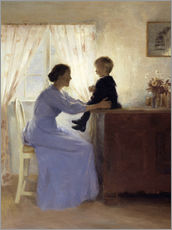 Adesivo murale  Mother and Child - Peter Vilhelm Ilsted