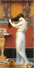 Stampa su plexi-alluminio  The Toilet - John William Godward