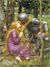 Adesivo murale  Uno studio per La Belle Dame sans Merci - John William Waterhouse