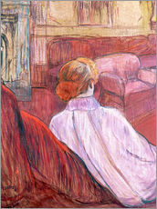 Adesivo murale  Woman Seated on a Red Settee - Henri de Toulouse-Lautrec