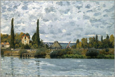 Adesivo murale  The Seine at Bougival - Alfred Sisley
