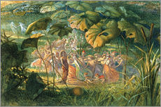 Adesivo murale  Fairy Dance in a Clearing - Richard Doyle