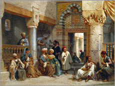 Adesivo murale  Arabic Figures in a Coffee House - Carl Friedrich Heinrich Werner