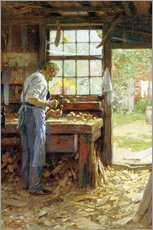 Adesivi murali  Village Carpenter - Edward Henry Potthast
