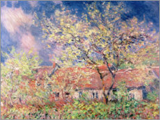 Poster Premium  Spring in Giverny - Claude Monet